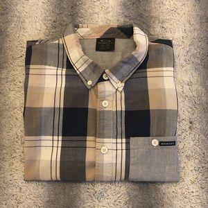 😎 Oakley Casual Short Sleeve Button Up Men's XL